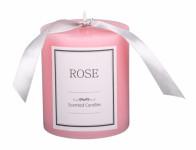 Svíčka GLASS VÁLEC růže d7x8cm