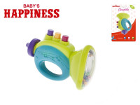 Chrastítko trumpetka plast 12cm Baby´s Happiness 3m+