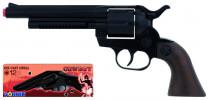 Kovbojský revolver kovový čierny 12 rán