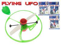 Létající UFO 15 cm se senzorem, ovladačem a USB nabíjecím kabelem - mix barev