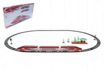 Vlak Bullet Train + dráha 1,63m s doplňky na baterie se zvukem se světlem
