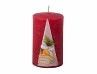 Sviečka ZVONČEK VALEC vianočné vyrezávaná d6x10cm