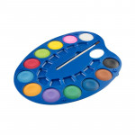 Vodové barvy - malířská paleta 12 barev, průměr 4 cm