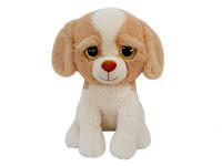 Pes plyšový 52 cm sedící velké oči