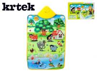 Elektronická hracia podložka Krtko a zvieratká 42x61cm