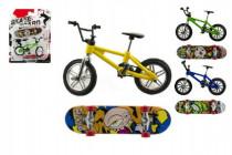 Kolo + skateboard prstový skrutkovacie plast 10cm asst - mix variantov či farieb