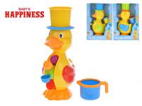 Kačička s mlynčekom na vodu plast 28cm v krabici 12m + - mix farieb
