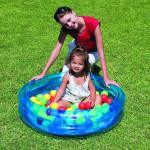 Nafukovací bazén, priemer 91 cm + 50 míčků- mix farieb