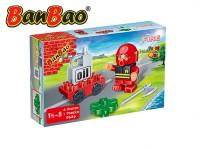 BanBao stavebnice Fire Young Ones figurka ToBees hasič s doplňky 4 ks