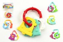 Hryzátko tvary plast 8cm v sáčku 0m + - mix variantov či farieb