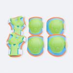 Spokey Buffer 3-dielna sada detských chráničov zelené veľkosť XS