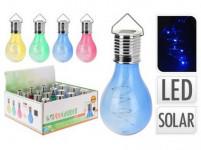 lampa solárne ŽIAROVKA 4LED 15x7,5cm závesná - mix farieb