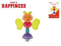Chrastítko brouček plast 13cm Baby´s Happiness 3m+