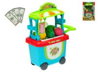 Stánok ovocie / zelenina pojazdný 23x38x16 cm s doplnkami
