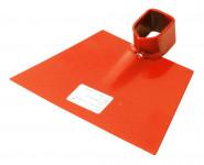 Motyka bez násady - plochá š. 175 mm - oranžová