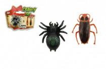 Pavúk / šváb lezúci po skle plast 4cm v blistru - mix variantov či farieb
