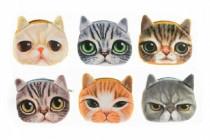 Peněženka kočka na zip textil 13cm - mix variant či barev
