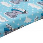 Detská penový matrac New Baby 120x60 modrá - rôzne obrázky - VÝPREDAJ