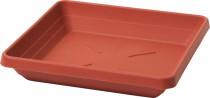 Plastia miska štvorhranná Lotos - terakota 25x25