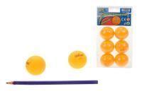Míčky na stolní tenis 40 mm bezešvé oranžové 6 ks