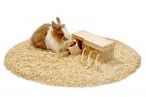 Hračka hlod. drevo interaktívne - šuplíky, Karlie 21,5 x 8,5 x 7,5 cm