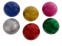 Míček strečový 10 cm s třpytivým gelem - mix barev