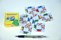 Hlavolam Puzzle Veselý klaun 9 kartiček v krabičce 6x6cm