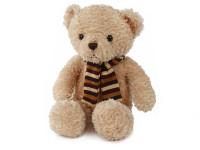 Medveď plyšový 28 cm sediaci so šálom