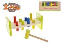 Zatloukátko s kladivkom drevené 2-Play