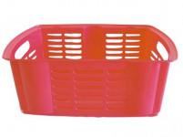 košík stohovateľný 40x30x15cm plastový - mix farieb