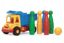 Auto multitruck s kolkami plast 37cm v sieťke 12m + Wader - mix farieb