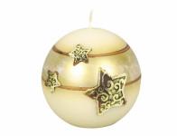 Sviečka vianočné SILVER STARS GUĽA d8cm