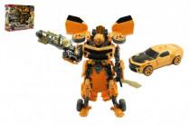 Transformer auto / robot žlté plast
