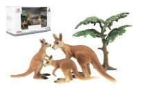 Zvieratká safari ZOO 10cm sada plast 4ks klokan 2 druhy