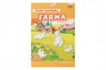 Veselé samolepky Farma 78ks samolepek 12ks A4 pozadí