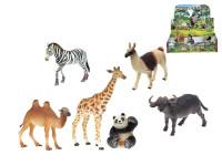 Zvířátka safari/ZOO střední plast 7,5-15cm - mix variant či barev
