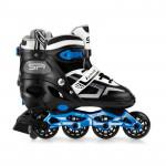 Spokey Burnish Kolieskové korčule regulovateľné, ABEC7 Carbon čierno-modré, veľ. 39-43