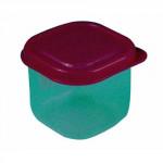 dóza čtvercová 0,15l plastová (6x6x6cm) - mix barev