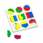 Drevené Puzzle - geometrické tvary