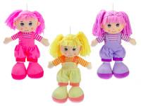 Bábika handrová v nohaviciach 35 cm - mix farieb