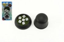 Hracie kocky 6ks 10x10mm s kelímkom spoločenská hra na karte