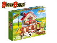 Stavebnice BanBao Farma domeček 315ks + 3 figurky