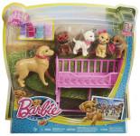 Barbie štěňátka s postýlkou
