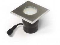 svietidlo LED zápustné 10x10cm 4,0W, IP67 teplé, do dreva