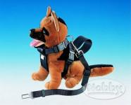 Postroj nylon s bezpeč. pásom Nobby 30 - 70 cm, veľ. S