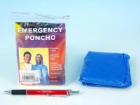 Pláštenka Poncho polyetylén univerzálna veľkosť v sáčku 10x12cm