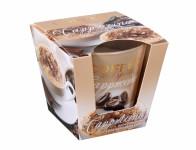 Sviečka v skle COFFEE Spices-CAPPUCCINO vonná 115g