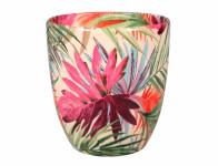 Obal na kvetináč KODET PALMA keramický lesklý d16x17cm