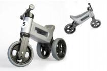 Odrážadlo šedé FUNNY WHEELS 2v1 výška sedadla nastaviteľná 28 / 31cm nosnosť 50kg 18m +