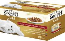 Gourmet Gold cat konz.- Multipack k.masa ve šťávě 4 x 85 g